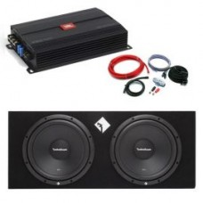 """Rockford Fosgate Prime Stage Twin 12"""" Package Deal"""