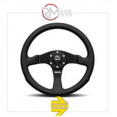 MOMO COMPETITION STEERING WHEEL BLACK LEATHER & SPOKES Ø350mm M11108365211R