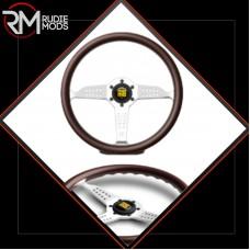 GENUINE Momo Grand Prix 350mm Mahogany Wood 350mm steering wheel VSUPGPRIMZ35