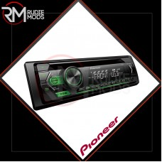 Pioneer 1-DIN CD Tuner with RDS tuner, green illumination, USB and Aux-In DEH-S120UBG