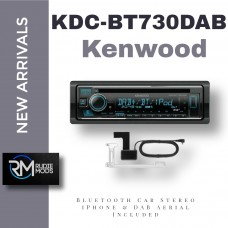 Kenwood KDC-BT730DAB CD,USB & Bluetooth Car Stereo iPhone & DAB Aerial Included