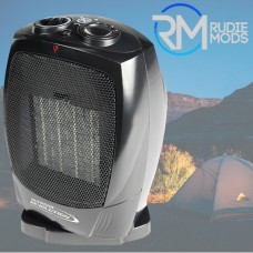Outdoor Revolution Portable PTC Oscillating Ceramic Heater 750W/1500W