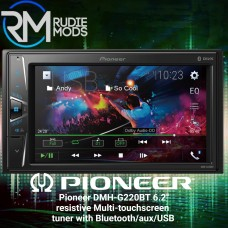"Pioneer DMH-G220BT 6.2"" resistive Multi-touchscreen tuner with Bluetooth/aux/USB"