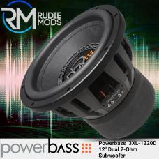 """Powerbass 3XL-1220D 12"""" Subwoofer 2000 Watts Max"""