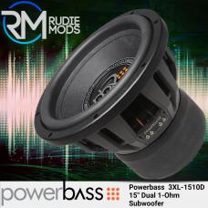 "Powerbass 3XL-1510D - 15"" Dual 1-Ohm Subwoofer 3000 Watts Max Power"