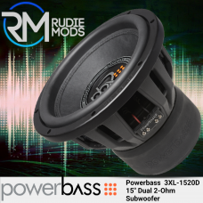 "Powerbass 3XL-1520D - 15"" Dual 2-Ohm Subwoofer 3000 Watts Max Power"