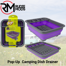 Summit Pop! Dish Drainer With Draining system Purple/Grey - Ideal for Camping