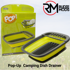 Summit Pop! Dish Drainer With Drip Tray Green / Grey - Ideal for Camping