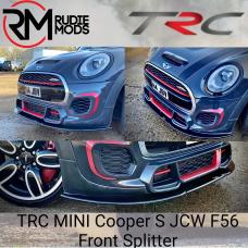TRC Front Splitter to fit MINI Cooper S JCW F56