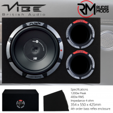 """Vibe Slick CBR12A-V0  12"""" Hybrid Vented Active Bass Enclosure with Built in Amp"""