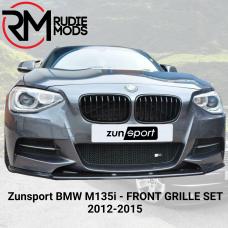 Zunsport Front Grille Set to fit BMW M135i 2012-2015 ZBM78912B