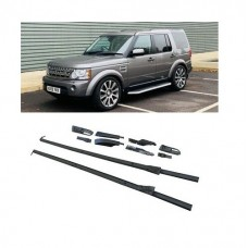 Land Rover Discovery 3 4 Metal BLACK Roof Rails Factory style