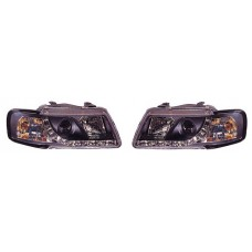 Audi A3 96-01 black R8 Devil eye headlights