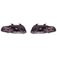Audi A4 B5 95-02 black R8 Devil eye headlights