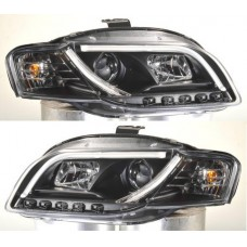 Audi A4 B7 05-09 Black DRL Light Bar Projector Headlights 1 PAIR