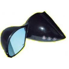 Black DTM Style Mirrors With Led Indicators Electric-BLDTMLEDELE