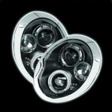 BMW Mini upto 2006 black angel eye headlights