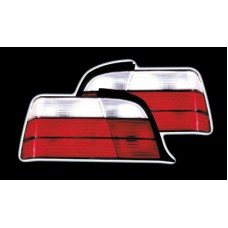 BMW 3 series E36 4 door red and clear M3 style tailights