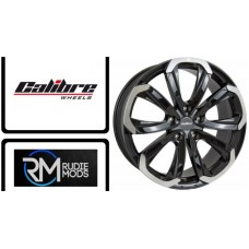 "Calibre Havana 18"" Alloys to Fit VW Transporter T5 10-15 in Black/Pol New In"