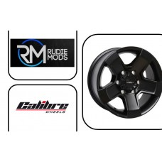 FORD RANGER 07-12 Calibre Outlaw Black Matt 8.0x18 Set Of Four Wheels