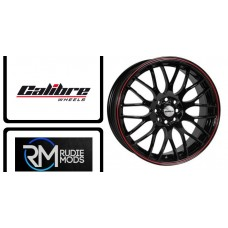 "FORD FIESTA Alloys For ST 2017 Onwards, 17"" Calibre Friction Black/Red New In"
