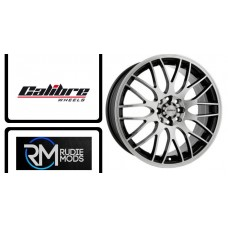 "Calibre Motion White/Blue 17"" Alloy's To Fit Fiesta ST 2017 New In"