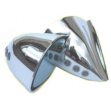 Chrome DTM Style Mirrors With Led Indicators Electric-CHDTMLEDME