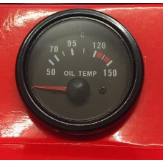 52mm Black face Waterproof Oil Temp Deg C gauge ideal for Kit Car and Marine