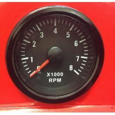 52mm Black face Waterproof Petrol Tacho Rev gauge