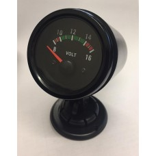 52mm Black face DC voltage volt gauge 8-16v inc 52mm pod holder