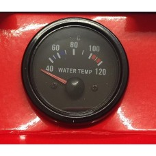 52mm Black face Waterproof Water Temp Deg C gauge ideal for Kit Car and Marine