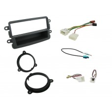 Connects2 CTKDC02 Dacia Duster 2012 On ISO Speaker Pods and Aerial Adapaters