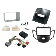 Connects2 CTKFD07 Ford Fiesta Mk7 08-10 Double Din Stereo Fitting Kit Black / Grey