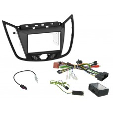 Connects2 CTKFD34 Ford C-Max 2011 On Complete Double Din Fitting Kit - Grey