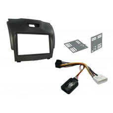Connects2 CTKIZ01 Isuzu D-Max 2012 On Complete Double Din Fitting Kit GREY