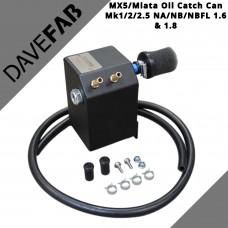 DAVEFAB Oil Catch Can To Fit Mada MX5 Miata Mk1 / 2 / 2.5 NA/NB/NBFL 1.6 & 1.8