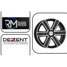 FORD RANGER 07-12 Dezent TJ Dark Black Polished 8.0x18 Set Of Four Alloys