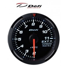 Defi Racer 52mm Car Exhaust Temperature Gauge - White - JDM Style Stepper Motor