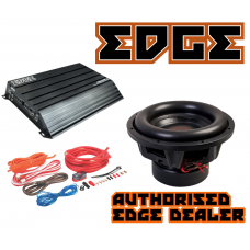 "Edge Car Audio 12"" SPL subwoofer + Edge 1500W RMS amplifier + 4g wiring kit"