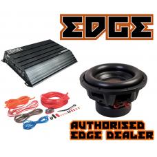 "Edge Car Audio 12"" SPL subwoofer + Edge 1500W RMS amplifier + 4g wiring kit"