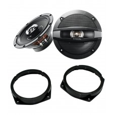 Alfa Romeo 159 2005 - 2011 Focal 17cm Rear Door Speaker Upgrade Kit