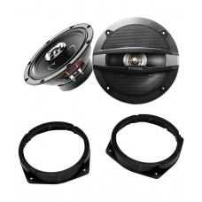 Alfa Romeo 147 2000 - 2010 Focal 17cm Front Door Speaker Upgrade Kit