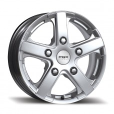 "Fox Viper Van 6.5x15"" silver Alloy Wheels - Set of 4"
