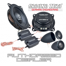 """Ground Zero Radioactive GZRC 100NEO-IV 4"""" slim fit car component speakers"""