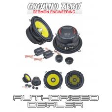 """Ground Zero GZTC 130 5.25"""" 13cm 2 way car component speakers 80w RMS"""