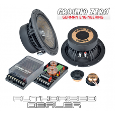 "Ground Zero Uranium GZUC 650SQX 6.5"" 16.5cm 2 way car component speakers"