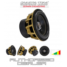 "Ground Zero GZHW 30SPL GOLD 12"" Car Audio SPL subwoofer Dual 1 ohm 1500W RMS"