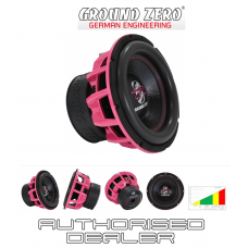 "Ground Zero GZHW 30SPL PINK 12"" Car Audio SPL subwoofer Dual 1 ohm 1500W RMS"