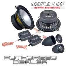 "Ground Zero Radioactive GZRC 130AL-IV 5.25"" 13cm 2 way car component speakers"
