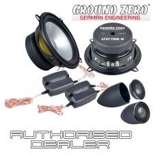 """Ground Zero Radioactive GZRC 130AL-IV 5.25"""" 13cm 2 way car component speakers"""